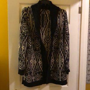 Aztec cotton cardigan by Talbots. LP